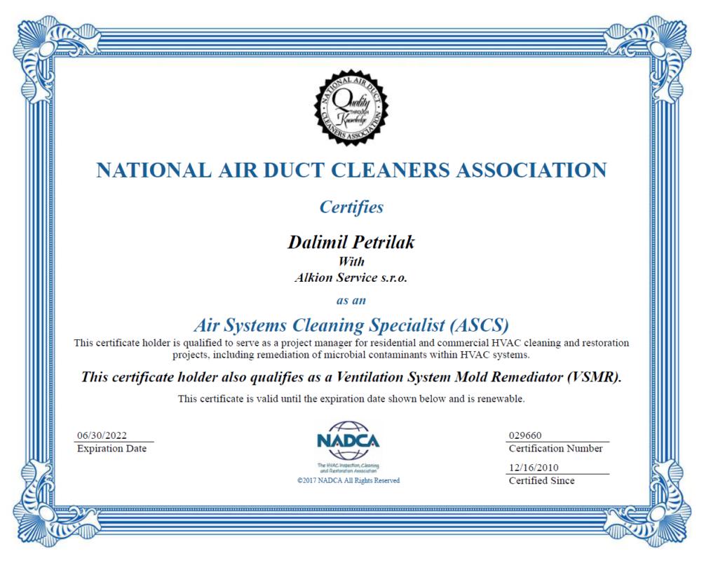 Obnovení certifikace